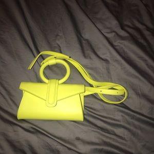 Neon yellow Fanny crossbody bag
